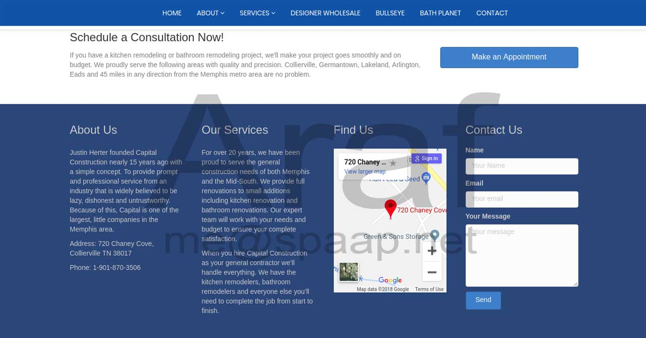 Araf Hossain - Capital Construction Footer