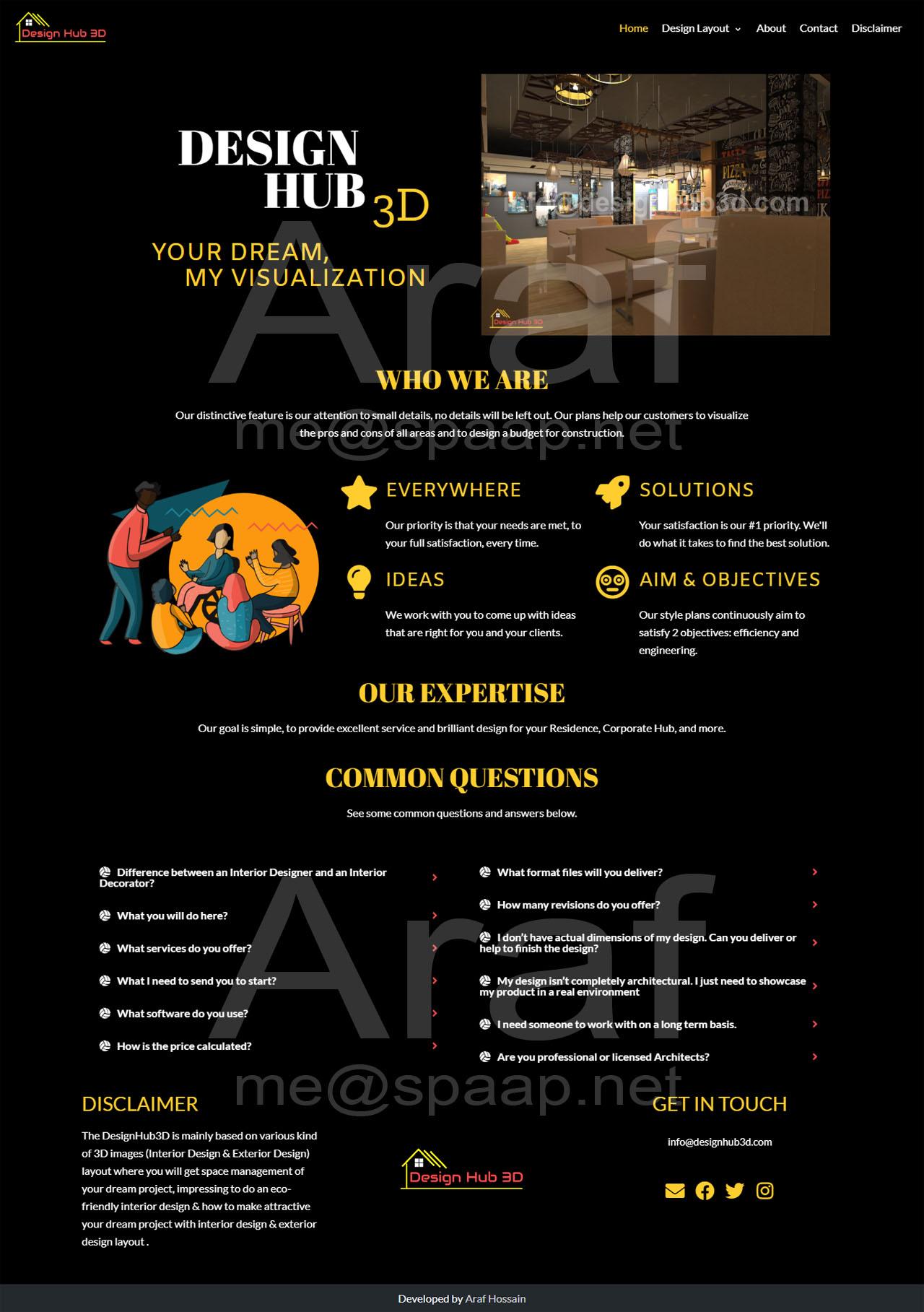 Araf Hossain - DesignHub 3D