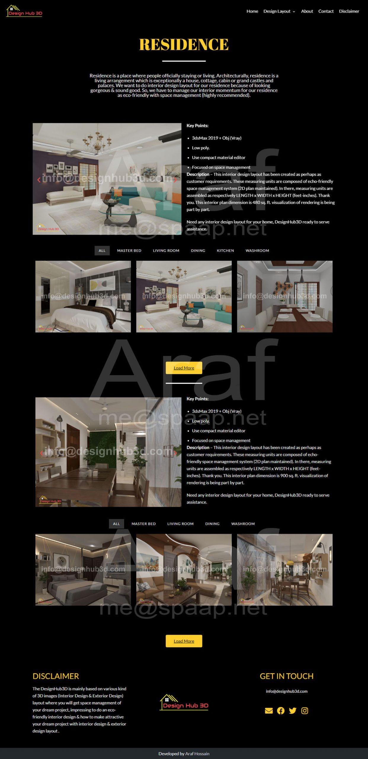 Araf Hossain - DesignHub 3D Layout