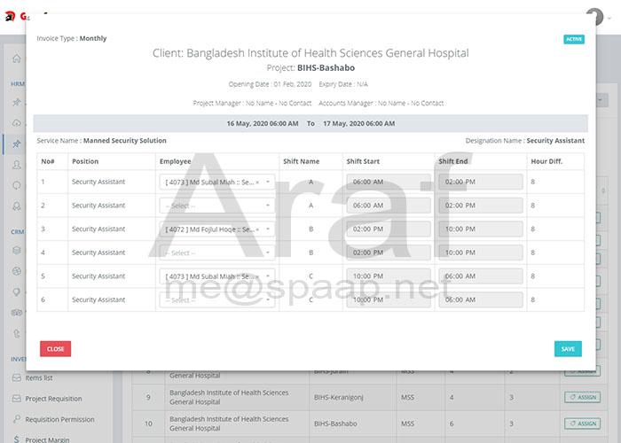 ERP Attendance System - Araf Hossain