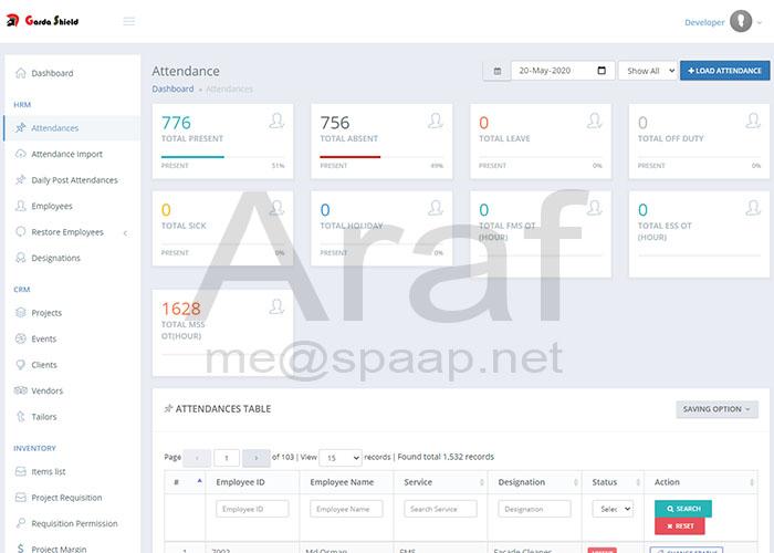 ERP Attendance - Araf Hossain